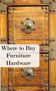 The best places to buy furniture hardware- love this look!! (also has other links i want to check out)
