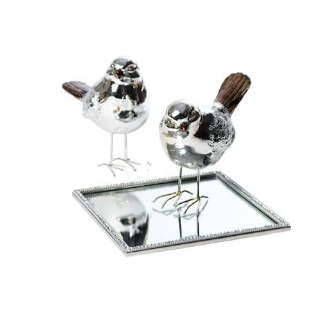 The Merlot Birdie and Reflective Mirror Candle Tray from M&B
