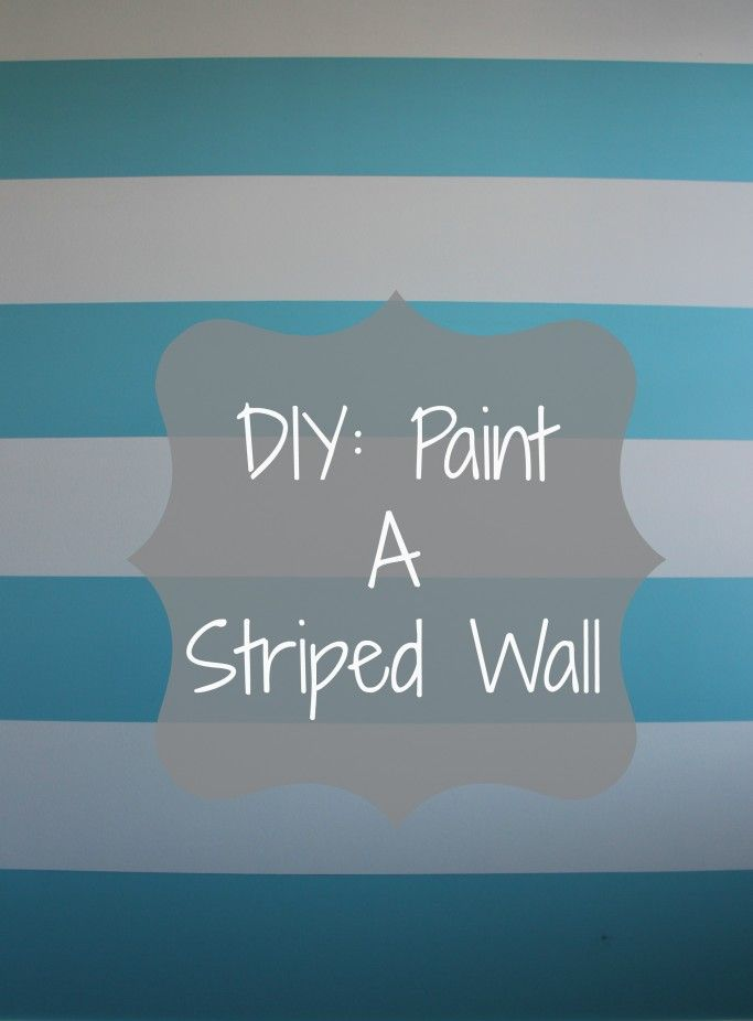 Diy striped wall! Pink & turquoise or purple & royal blue would be pretty