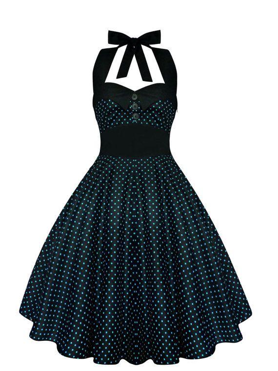 Lady Mayra Ashley Polka Dot Dress Vintage by LadyMayraClothing