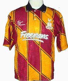 Bradford City Home Shirt 1991