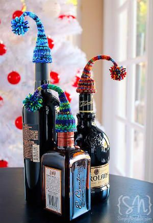 """Free """"Night Cap"""" Knitted Bottle Cozy"""