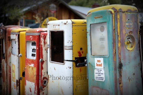 Old Gas Pumps  Rusty Gas Pumps  Old Service by turquoisemoon