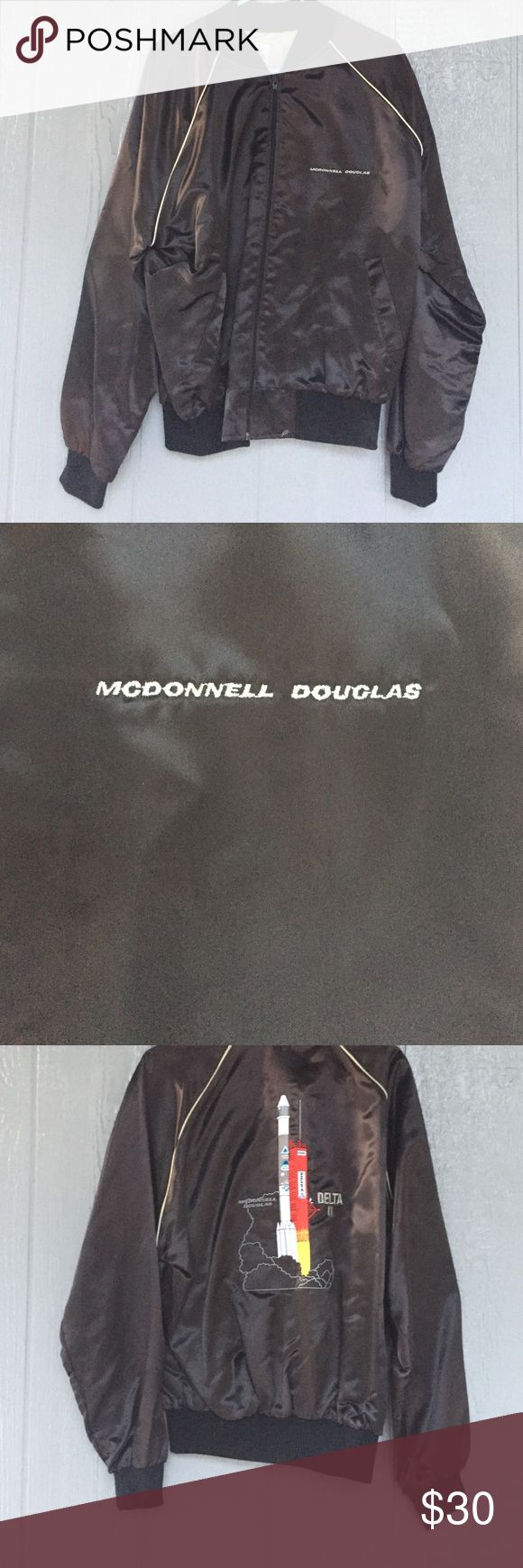 Vintage High five sportswear bomber jacket Made in USA, McDonnell Douglas with delta II spaceship on back high fice sportswear Jackets & Coats Bomber & Varsity