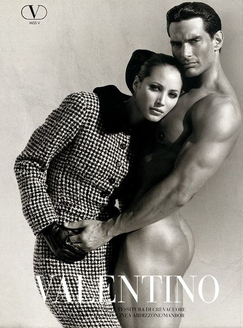 Paris | Christy Turlington for Maison Valentino FW 1995_1996 --    Lensed by Herb Ritts