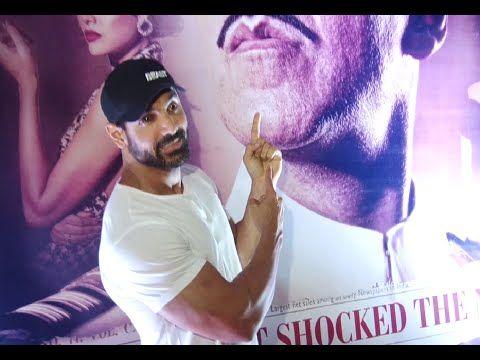 John Abraham at the screening of Akshay Kumar's RUSTOM movie.