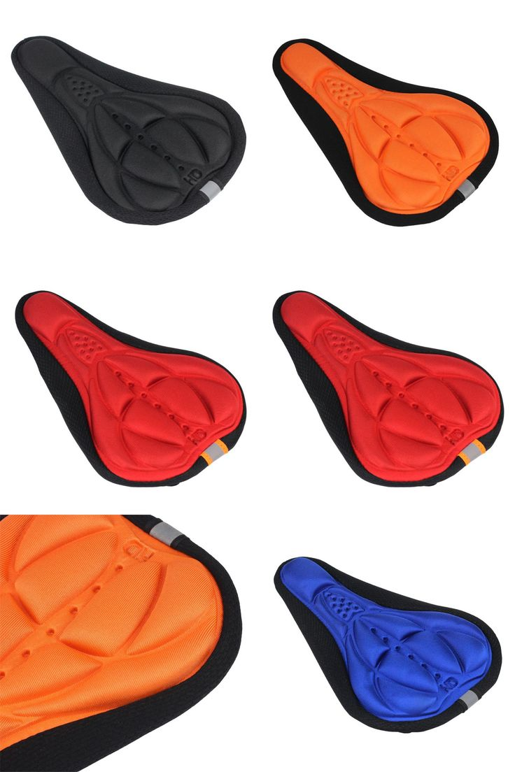 [Visit to Buy] 3D Silicone Gel Pad Soft Bicycle Saddle Cover MTB road bike Seat Mat Cycling Cycle Seat Cushion 4 colors M29 #Advertisement