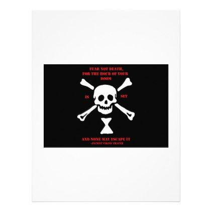 #Ancient Viking Prayer...Fear Not Death Letterhead - #office #gifts #giftideas #business