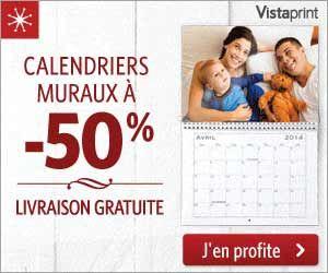 VistaPrint : -50% sur les calendriers muraux et livraison gratuite | Maxi Bons Plans