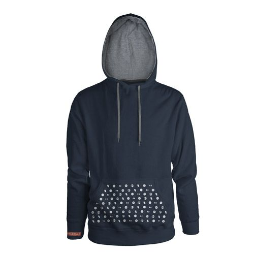 50% Cotton / 50% polyester pullover hooded sweatshirt with the Coldplay album cover symbols printed on the front pocket and a red 'Coldplay'...