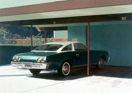 '73 Malibu, 1974  Robert Bechtle  Oil on canvas