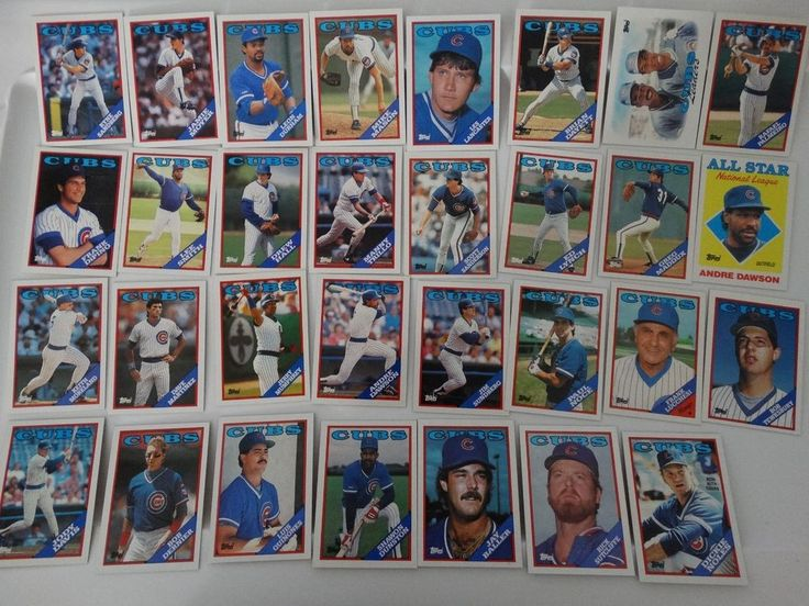 1988 Topps Chicago Cubs Team Set of 31 Baseball Cards #ChicagoCubs