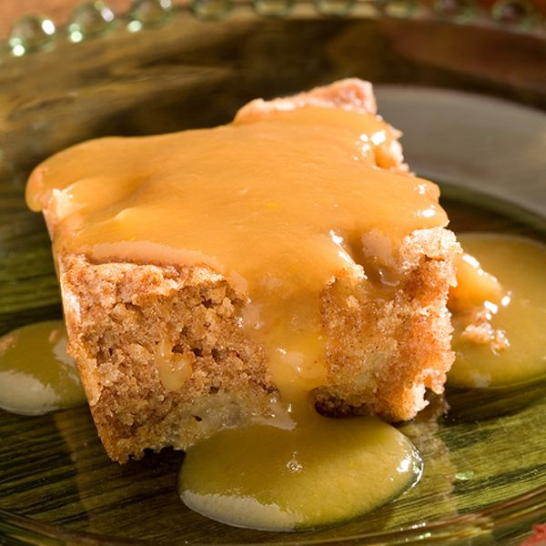 At its finest served warm out of the oven.. Apple Cake With Caramel Sauce Recipe from Grandmothers Kitchen.