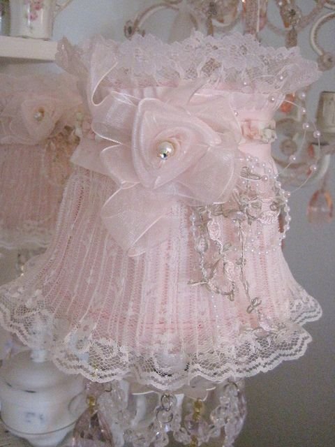 Lace Amp Pearls Lampshade Flickr Photo Sharing Lovely