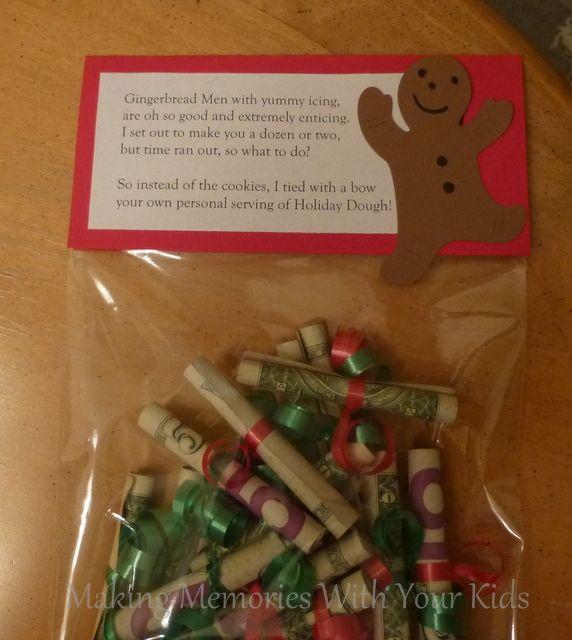 "23 Unusually Creative And Adorable Diy Birthday Gift Ideas: Christmas Money Gift Idea ""Holiday Dough"" The Perfect Way"