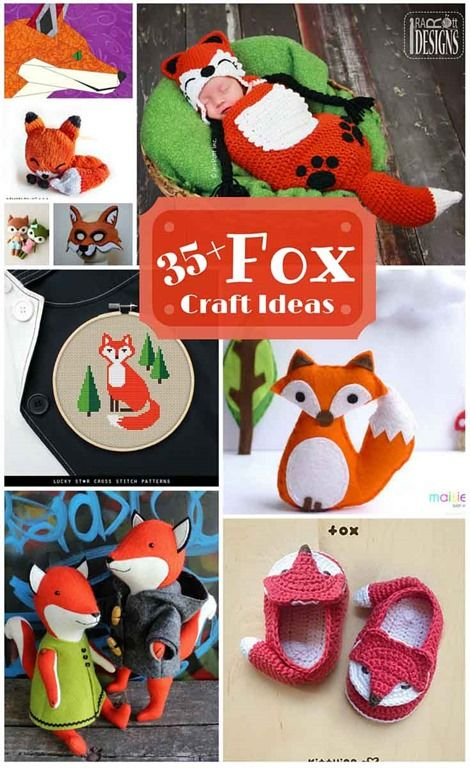 There are so many cute fox patterns and projects out there. Here's a collection of DIY fox craft ideas to sew, quilt, knit and crochet.