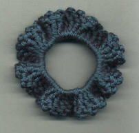 Free Crochet Pattern - One-Round Ruffled Scrunchie