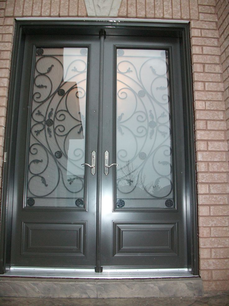 23 best images about funky on pinterest flora iron for Double front entry doors