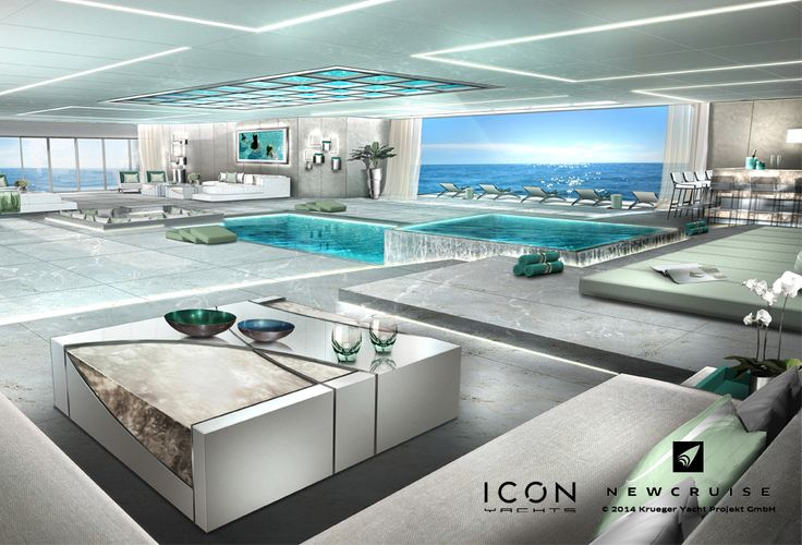 Project ONEFOURTYFIVE - Joint venture between ICON Yachts and NEWCRUISE Yacht Projects & Design - Beach Club