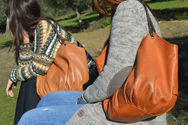 """""""At the beach, in the city or in the country......always everywhere"""" - Leather shoulder bag, The Tan Talega"""