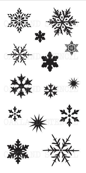 Copo de nieve plantilla  14 en una hoja de 154.5 por OaklandStencil