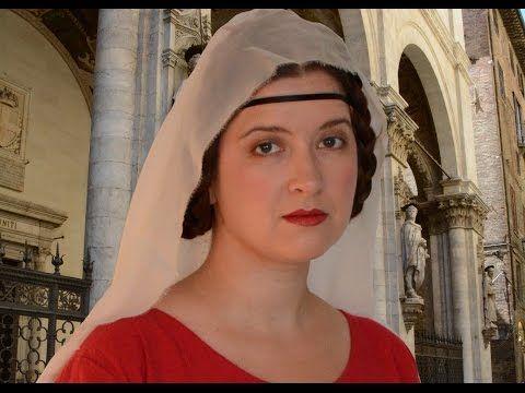 Medieval Italian Hairstyle (Siena, ca 1328) - YouTube