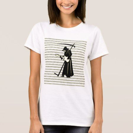 Death Metal Musical Grim Reaper Guitar T-Shirt - click to get yours right now!