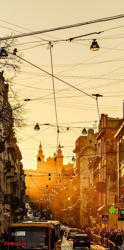Закат солнца (ул. Дорошенко)