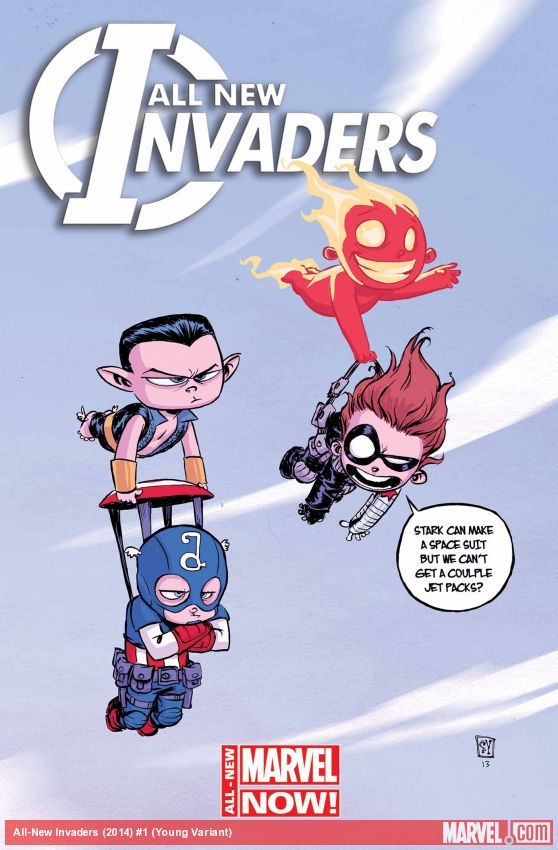 All-New Invaders #1 variant cover by Skottie Young   Marvel.com