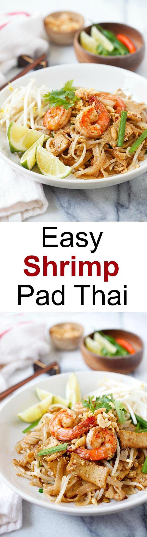 Pad Thai is a very popular Thai dish. This easy Pad Thai recipe takes only 30 minutes to make; you can make Pad Thai with store-bought ingredients. | rasamalaysia.com