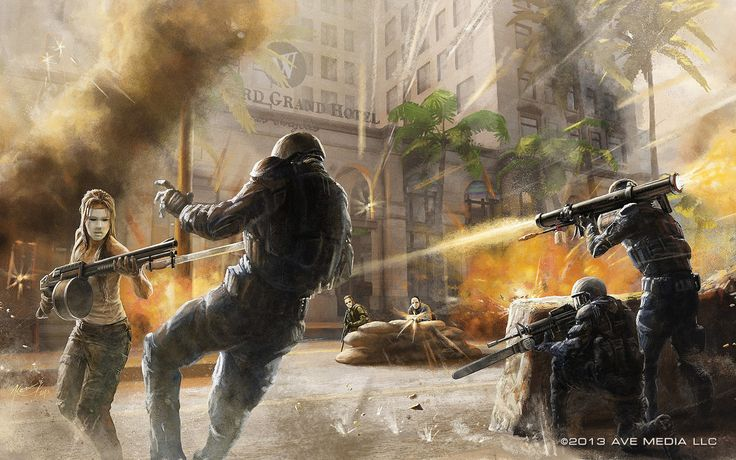 'Elite vs Freedom' concept art - shooter Videogame