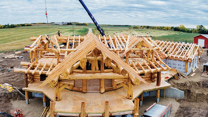 ponoka residents were excited to hear the popular hgtv show timber kings and pioneer log homes. Black Bedroom Furniture Sets. Home Design Ideas