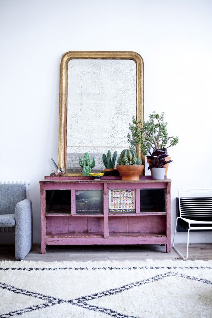 Indoor plant inspiration #Mirror #LivingRoom