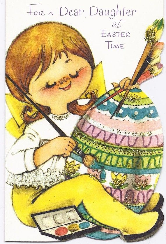 Vintage  Easter Greeting Card