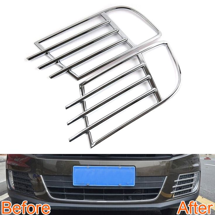 2 pcs Car Front Fog Light Lamp Cover Frame Grille Trim ABS Decoration For Tiguan 2014 2015 Car Styling Covers