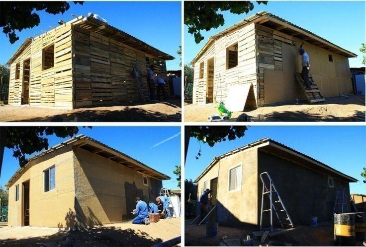 Construa sua própria casa com paletes