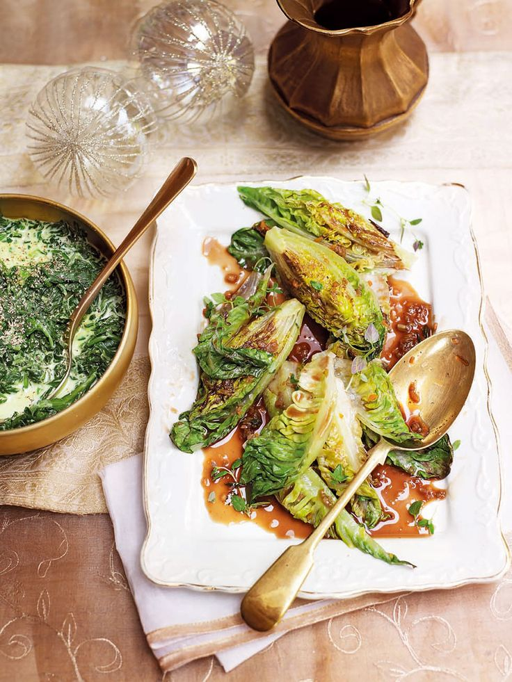 Michel Roux Jr's braised little gem lettuces are easy to make as a side dish and ready in less than 30 minutes.