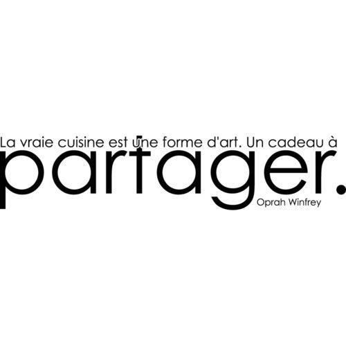 Stickers autocollant muraux citation oprah winfrey - Stickers cuisine citation ...