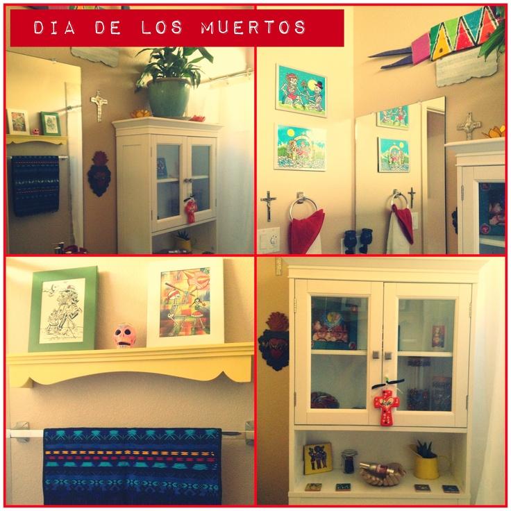 Downstairs Bathroom  Dia De Los Meurtos Theme