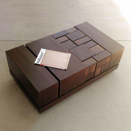 Abaci Walnut Coffee Table By Farzan Nemat Based on the Fibonacci principle ... oooOOOOOoooooo