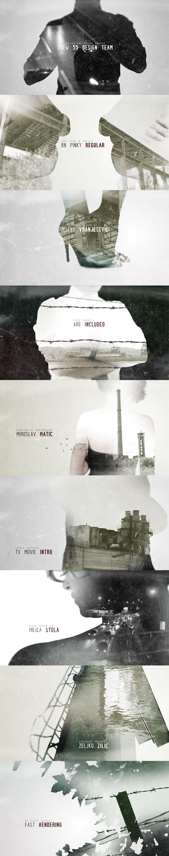 Double Exposure Movie Intro - After Effects Project Files   VideoHive #aftereffects #double #exposure #videohive #video #trailer #movie