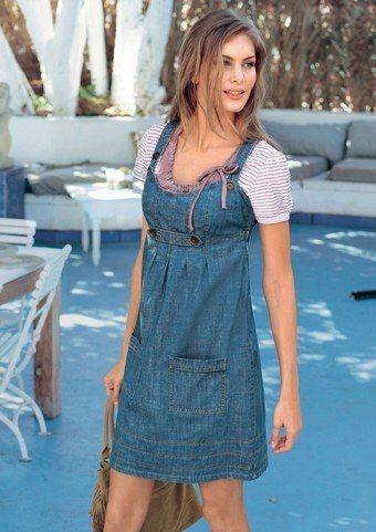 Мода возвращается: джинсовый сарафан