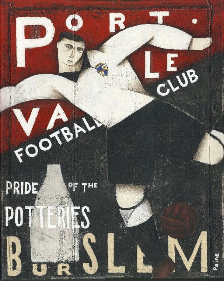 Copy of Port Vale Gift - Port Vale Pride of Burslem Limited signed Football Print