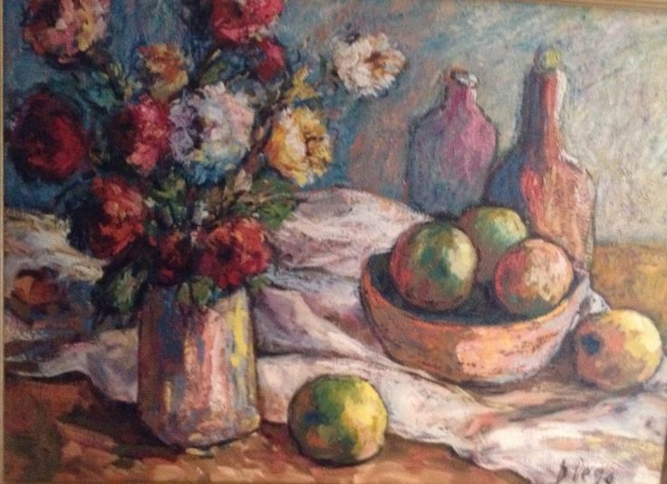 #DiegoVoci™ knew the #BROWN Family who collected and knew DIEGO early on. Ted Brown Jr's Still Life shown here is one of a variety the family owns. For another story see: http://www.artifactcollectors.com/diego-voci-antonio-diego-voci-3984818/Page9.html#248