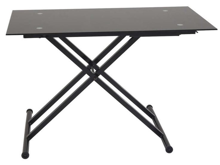 Table basse relevable en verre LIFT coloris noir - Vente de Table basse - Conforama