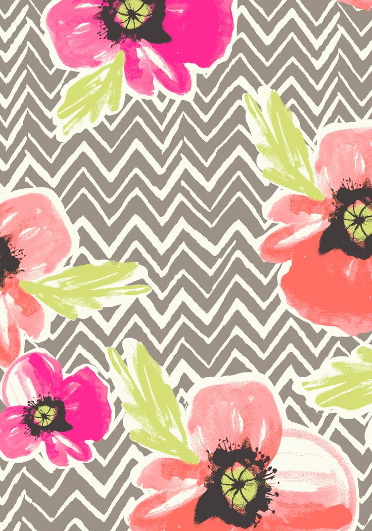 Printed: Florals & Zig Zags #PrintsbyHUE
