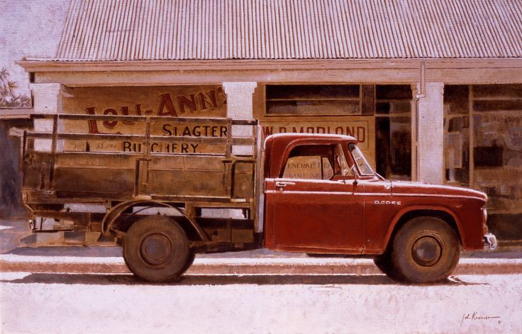 Lou- Anne's, Slagtery, Riverdale. Oil on canvas by John Kramer.