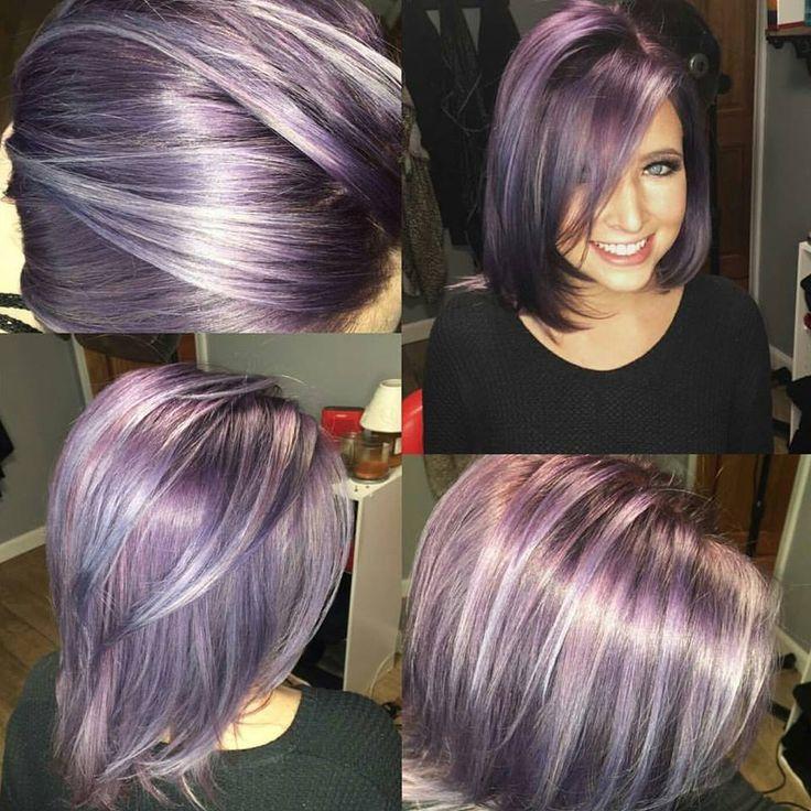 lavender hair looks grey white and lavendar