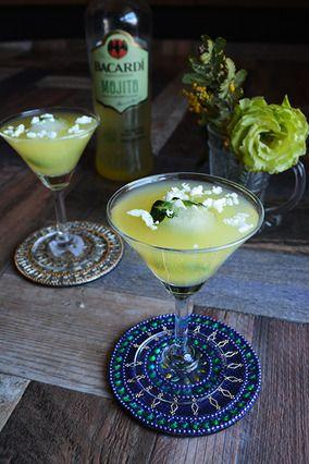 Cocktail coconut temptation モヒート×ココナッツオイル×パインジュース|レシピブログ