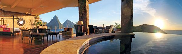 Honeymoon Resorts with Private Plunge Pools. Jade Mountain in Soufriere, St. Lucia. $900-$1,150.